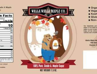 Walla Walla Maple Company - Maple Sugar Wrap-Style Label